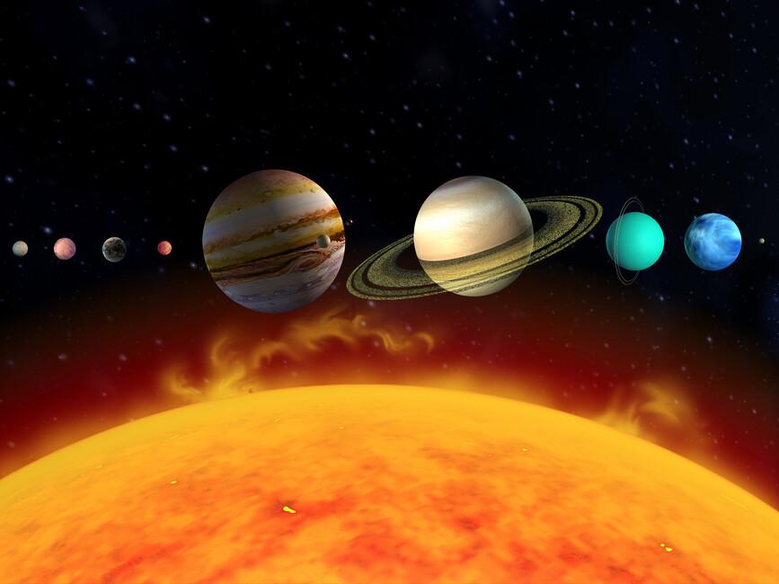 Sun and Planets - Wall Mural & Photo Wallpaper - Photowall