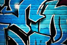 Wall mural - Blue Graffiti