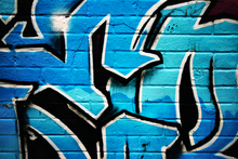 Wall mural - Blue Graffiti