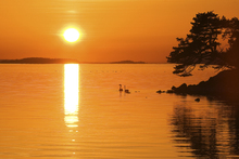 Wall mural - Sunrise Lake