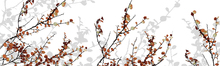 Wall mural - Mountain Birch Orange