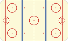 Canvas-taulu - Ice Hockey Rink