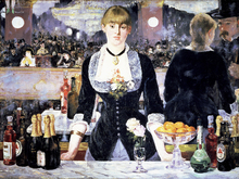 Canvastavla - Bar at Folies-Bergere, Edouard Manet