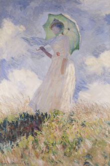 Canvastavla - Woman with Parasol, Claude Monet