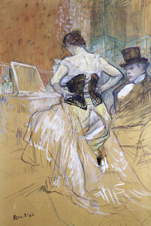 Wall mural - Lautrec, Toulouse, Henri - Women at her Toilet