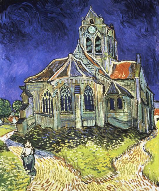 Van Gogh Wallpaper: Church At Auvers-sur-Oise, Vincent Van Gogh
