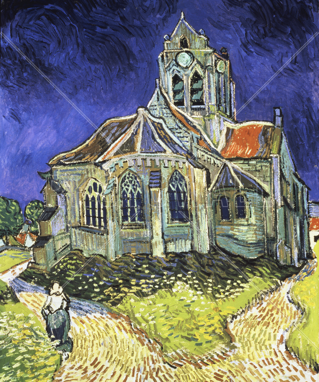 church at auvers sur oise vincent van gogh bilder p lerret photowall. Black Bedroom Furniture Sets. Home Design Ideas