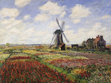 Canvas print - Tulip Fields, Claude Monet