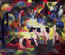 Canvastavla - Cows and a Camel, August Macke