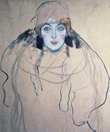 Wall mural - Klimt, Gustav - Head of a Woman