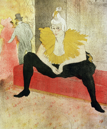 Wall mural - Clowness Looks Around, Henri Toulouse Lautrec
