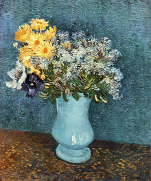 Canvastavla - Vase with Lilacs, Daisies and Anemones, Vincent van Gogh