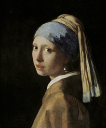Leinwandbild - Girl with a Pearl Earring, Jan Vemeer