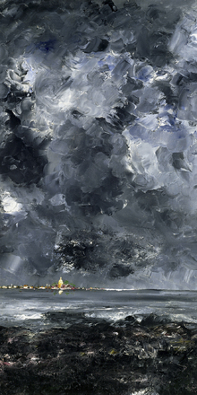 Wall mural - City, August Strindberg