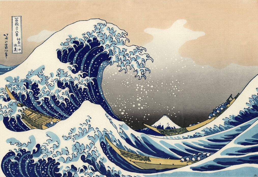 Hokusai Wave Poster Hokusai Wave Wallpaper Hokusai