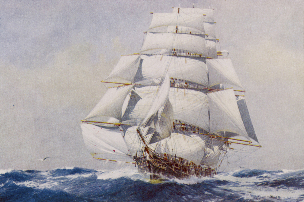 Clipper under Full Sail, J Spurling