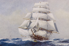 Wall mural - Clipper under Full Sail, J Spurling
