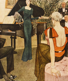 Wall mural - Lady Amuses her Guests, National Magazines
