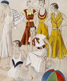 Wall mural - Beach Fashions for 1932, National Magazines