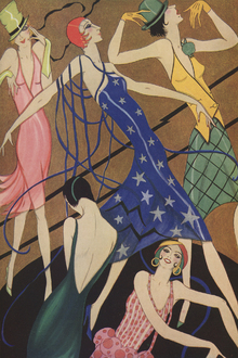 Wall mural - Models in Party Dresses, Gordon Conway