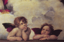 Canvastavla - Two Angels, Raffaello Santi