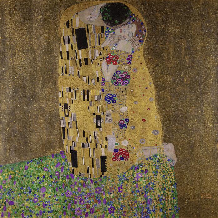 Klimt The Kiss Wallpaper Klimt  Gustav - Kiss - Wall