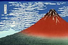 Fototapet - Hokusai, Katsushika - Red Fuji