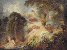 Canvastavla - Bathers, Jean Honoré Fragonard
