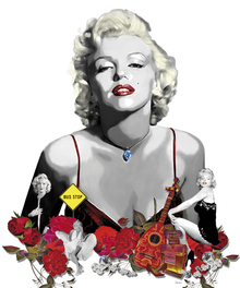 Canvas print - Monroe - White