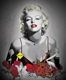 Canvas print - Monroe - Black