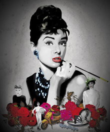 Canvas print - Hepburn - Black
