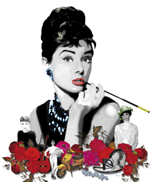 Canvas print - Hepburn - White