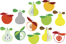 Canvas print - Kivik Apple and Pear - White