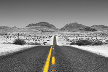 Canvas print - Lost Highway - Colorsplash