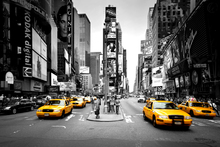 Wall mural - Times Square - Cabs Colorsplash