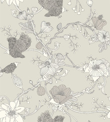 Wallpaper - Botanica - Beige