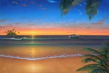 Canvastavla - Island Romance