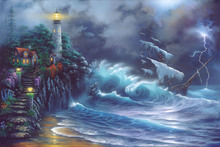 Wall mural - Revenge of the Sea