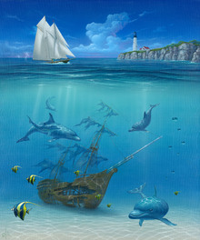 Wall mural - Sail Away