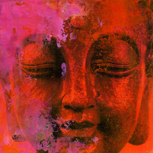 Canvastavla - Red Buddha