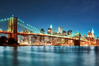 Fototapeta - Bright Brooklyn Bridge