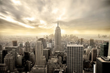 Fototapet - Enchanting New York - Yellow Sky