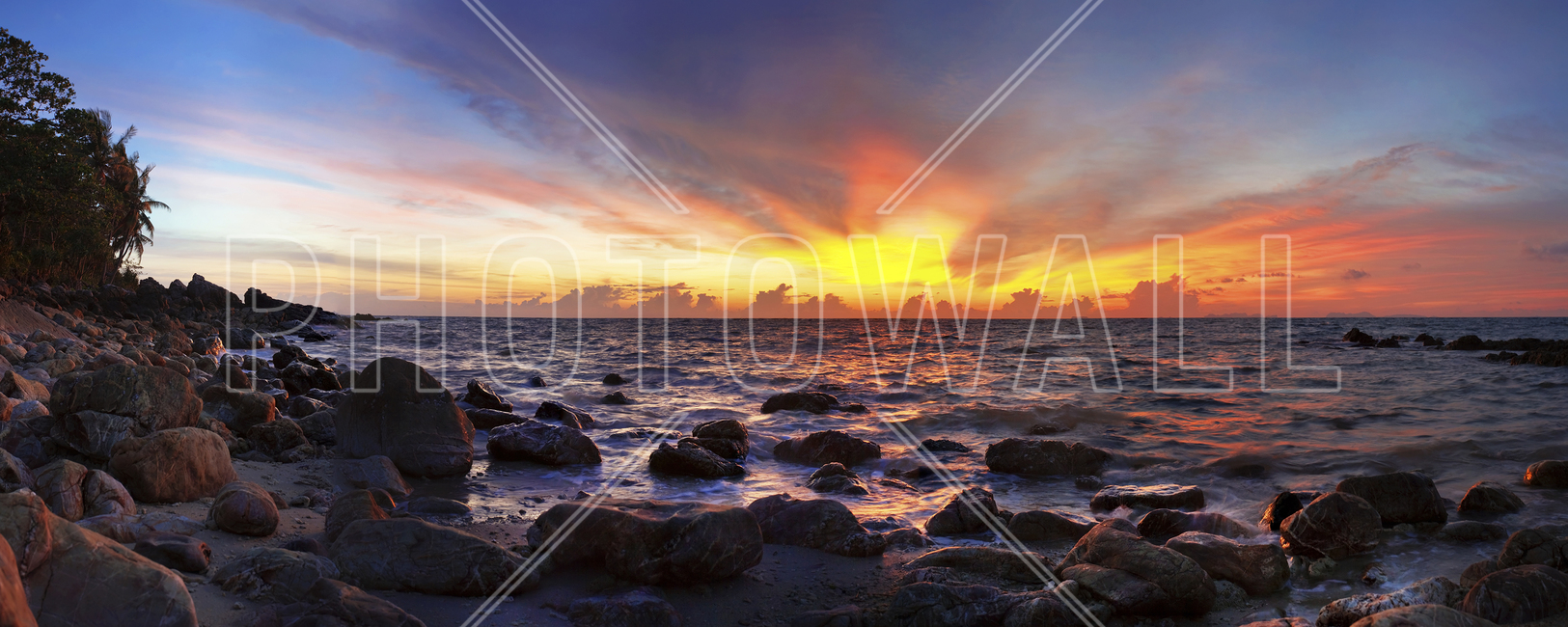 wild sunset wall mural amp photo wallpaper photowall sunset and surf in france wallpaper wall mural self