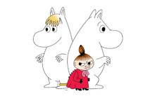Leinwandbild - Moomin - Snorkmaiden and Little My