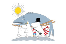 Wall mural - Moomin - Big Fish