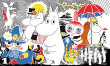 Wall mural - Moomin - Comic Book 1
