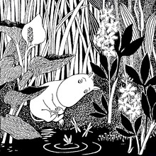 Canvastavla - Moomin - Sleeping