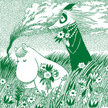 Fototapet - Moomin - Meadow Green