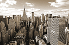 Canvas-taulu - Above Manhattan - Sepia