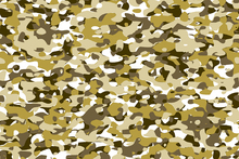 Canvas print - Camouflage - Yellow